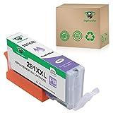 Supricolor CLI-281XXL Photo Blue Ink Cartridges, Replacement Ink Cartridges for CLI-281 XXL 1 Photo Use with PIXMA TS8120 TS8220 TS9120
