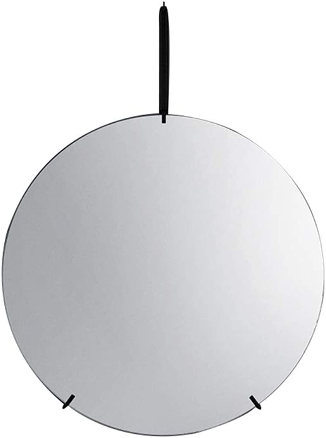 Wall-Mounted Mirror Round Diameter 30cm 40cm 50cm 60cm 70cm Premium Quality Decorative in Bathroom Home  Living Room Black gold with Complete Kit Drilled Holes