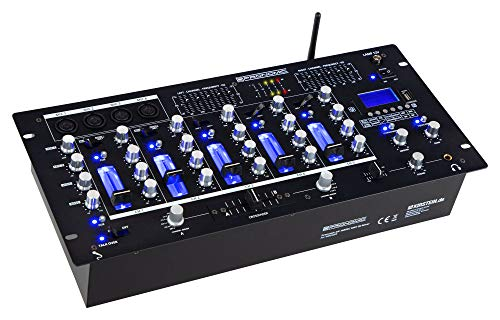Pronomic DX-165REC MKII DJ-Mixer - 5-Kanal-Mischer mit USB/SD/Bluetooth-Player - Cue-Funktion - Recording-Funktion - 4 Mikrofoneingänge - grafischer Equalizer