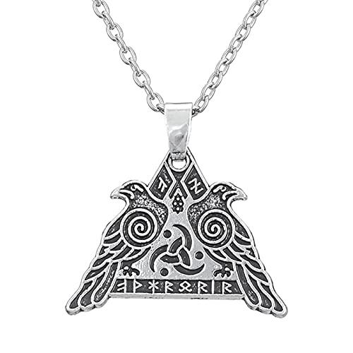 Guerrero Vikingo Valknut Warrior Valkyrie Crow Colgante Joyería Collar De Protección Militar Nórdico Estilo De Brujería