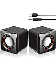 Computer Speaker, USB Powered Speaker, Portable Computer Sound Bar, Aookay Mini Stereo Wired Desktop Speakers, Bar-Plug and Play,Compatible with various devices system,for Desktop,Windows PC (C2)