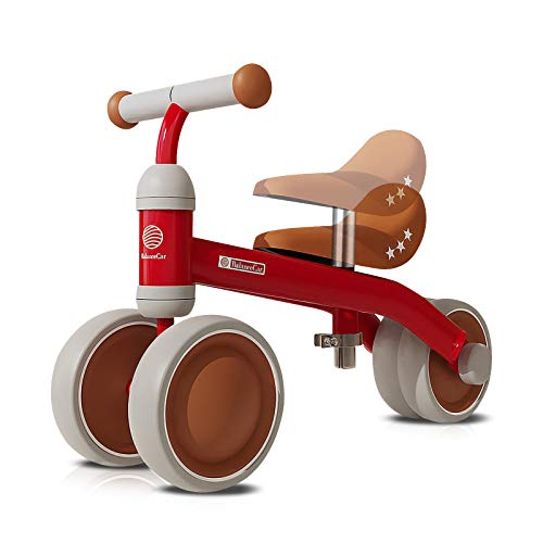 OLYSPM Bicicleta Sin Pedales para Niños 10-36 Meses,Triciclos Bebes,Correpasillos Bebes De Sillín Ajustables,Bicicleta Infantil Sin Pedales(Rojo)