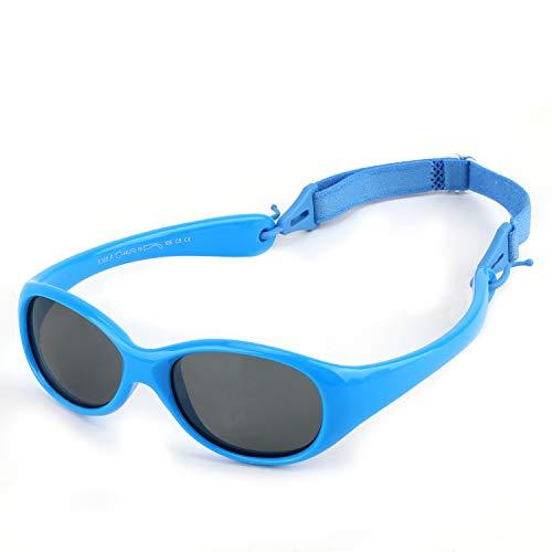 Hifot Baby Mädchen Junge Sonnenbrillen, UV Schutz polarisierte Kleinkind Sonnenbrille, Flexible Kinder Sonnenbrillen Tempel Nicht faltbar - Alter 6 Monaten bis 2 Jahre