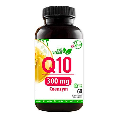 Coenzym Q10, 100% Vegan, extra hochdosiert mit 300mg pro Kapsel - 60 Kapseln im 2 Monatsvorrat, Bioaktiv, Premium Q10, MeinVita Linie