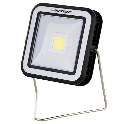 Dunlop Led-campinglantaarn op zonne-energie, 110 lumen, ultramoderne COB-led, powerbankfunctie, 2000 mAh, standaard 360 graden draaibaar, inclusief USB-kabel | laadfunctie indicator | neutraal wit licht | afmetingen: 143 x 129 x 125 mm
