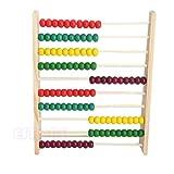 Juguete Educativo, Abacus de Madera, Cuentas Coloridas de 10 hileras, contando...