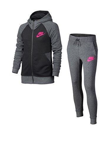 Nike Tuta Sport G NSW TRK Suit Ft Grigio 8-10 Anni (S)