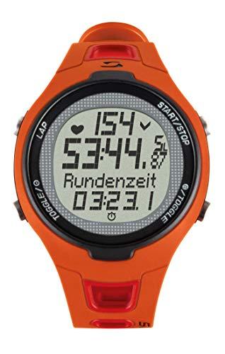Sigma Sport Unisex Pulsuhr Pc 15.11 neues Design, Herzfrequenz mit Brustgurt, EKG genau, wasserdicht, Red