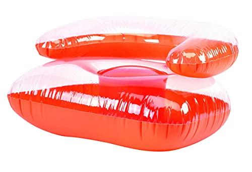 TOPICO 56-0602213 Aufblasbare Pools, orange/transparent, 77 x 65 x 45 cm
