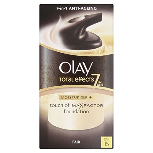 4 x Olay Total Effects 7-in-1 Moisturiser + Touch of Max Factor Foundation - Fair SPF 15 50ml