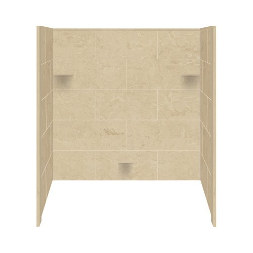 shower wall materials Transolid RBE6026-96 Solid Surface Tub/Shower Wall Kit, 32-Inch x 60-Inch x 60-Inch, Almond Sky