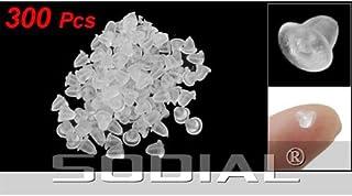 SODIAL (R) 300 PZ Ferma orrecchini fermaorecchini a Forma fiori di plastica morbida trasparente