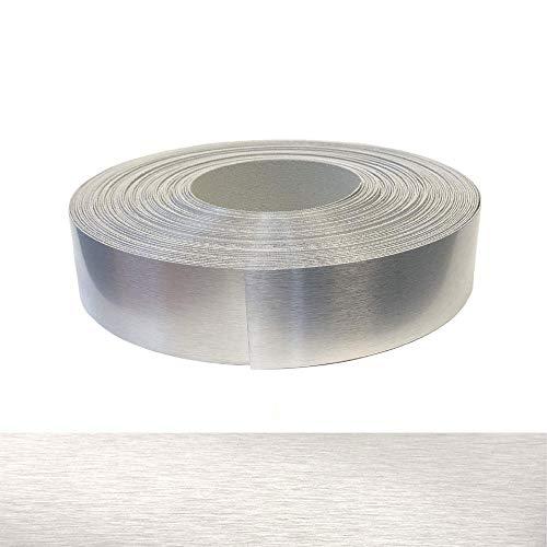 Secchio per bordi XXL extra largo, in ABS, 60 mm x 5 m, con colla a fusione in vero alluminio