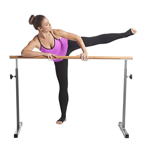 GoFit GoBarre Ballet Workout Bar, Portable, Adustable Free-Standing Ballet Bar for Dancing, Stretching, Barre Workouts with Shay Kostabi Workout DVD