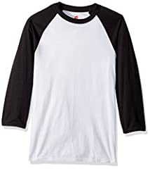 Baseball raglan tee is made from 60 percent cotton/40 percent polyester With X-Temp technology: designed with dynamic moisture control Responds to your body temperature to keep you cool and dry Soft, lightweight cotton blend fabric Black satin label ...