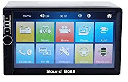 Sound Boss 7inch HD Bluetooth MP5 Player TFT Colour Touch Screen FM RDS Radio USB TF AUX Input Car Stereo System,Sound Boss,SB-7043