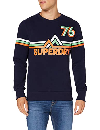 Superdry Herren Downhill Racer Crew Sweatshirt, Blau (Rich Navy ADQ), X-Large