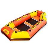 Barco inflable profesional Drift Boat espesado de piel kayak inflable del barco de pesca inferior duro Asalto bote de goma barco de la deriva del barco de pesca Kayaks (Color: Naranja, Tamaño: 2.4M) W