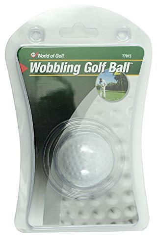 Jef World of Golf Gifts and Gallery, inkl. wackelnder Golfball, Weiß