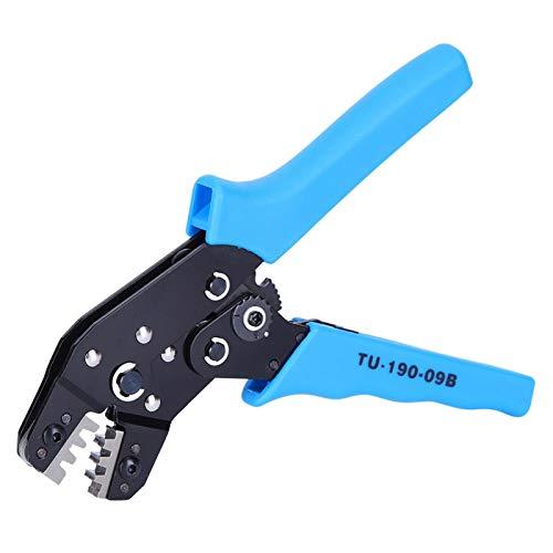Herramienta de prensado manual terminal anticorrosión Alicates de trinquete de corte de alta gama Crimper de trinquete mango de PVC para electricista (TU-190-09B)