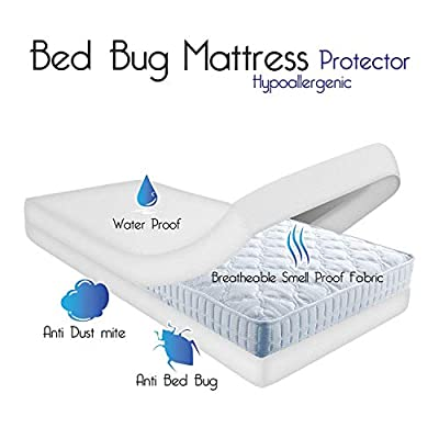 Bedding Care Uk Waterproof Antiallergy Full Enclosure Mattress Cover with Zip Protector For Dustmites,Bacterias,Bugs from Bedding Care Uk