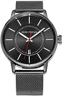 Mini Focus Mens Quartz Watch, Analog Display and Stainless Steel Strap - MF0034G.01