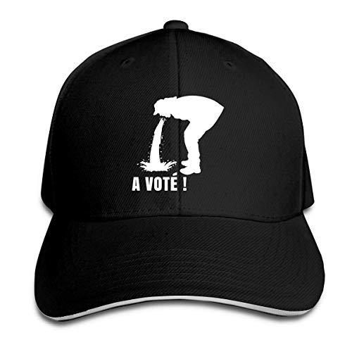 XCNGG Un vot & Atilde ;! Sombrero Unisex Sandwich Cap Curved