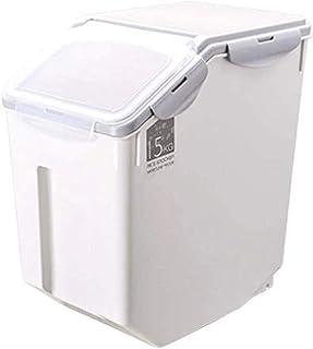 AWAING Bocaux Riz Conteneur scellé étanche à l'humidité scellé de cuisine Boîtes de rangement for les céréales de riz grai...