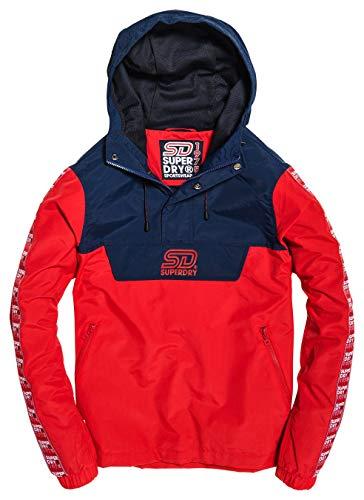 Superdry Women's 90S Colour Block Overhead Jacket, Deep Berry, 10UK/S