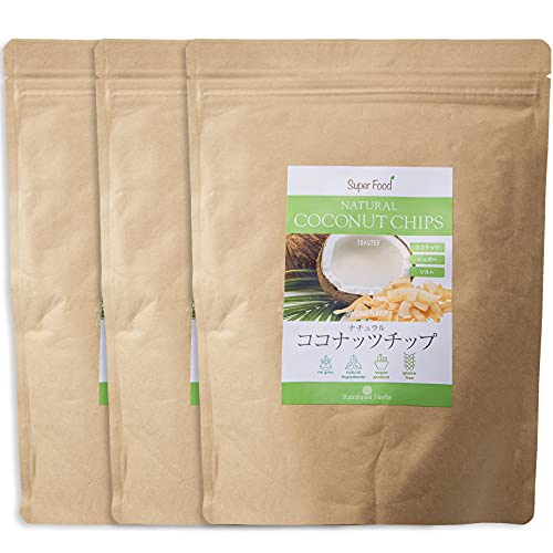 レインフォレストハーブ ナチュラル ココナッツチップ 330g 3袋 ノンフライ ココナッツチップス トーストタイプ 油不使用