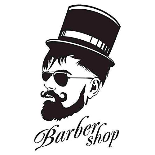 Homme Barber Shop Autocollant Chop Pain Décalque De Cheveux Posters Vinyle Mur Art Stickers Décor Windows Décoration Murale 58X97cm