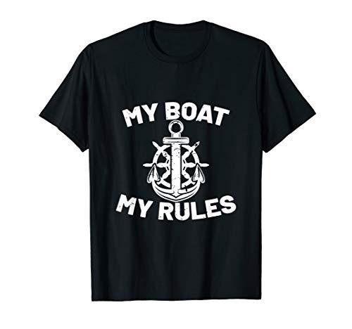 Mein Boot meine Regeln! Freizeitkapitän Fun T Shirt