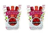 GoodPop Organic Freezer Pops - Concord Grape, Cherry Limeade, and Fruit Punch - 100% Real Fruit Juice - Top 8 Allergen Free - 24 Bars Per Bag - 2 Pack (48 Bars)