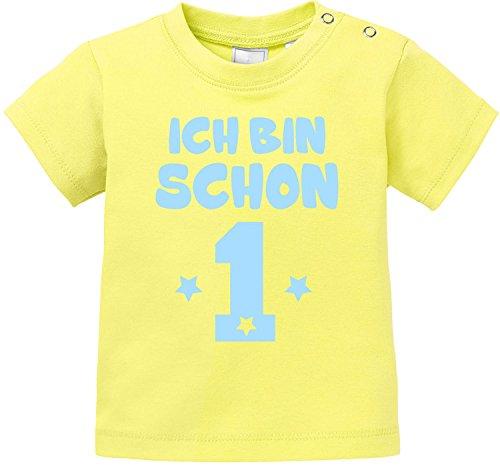 EZYshirt EZYshirt® Ich bin Schon 1 | Bio Baumwolle Baby T-Shirt | Geburtstagsgeschenk