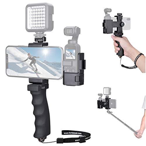 Support DJI Osmo Pocket, Stabilisateur Manuel pour DJI Osmo Pocket, Support Multifonctionnel avec Pince Rotatif à 360 °, kit Parfait pour Vlog, We-Media Youtube Livestream etc.
