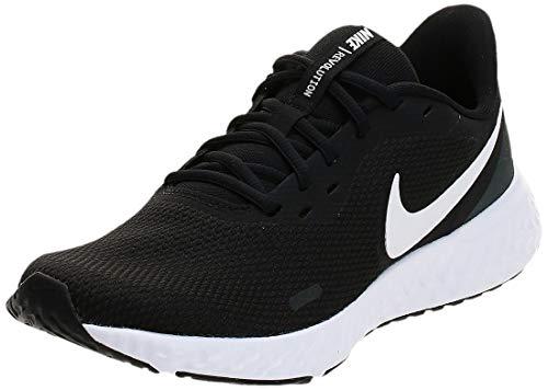 Nike Revolution 5, Scarpe da Corsa Mens, Nero/Bianco, 43 EU