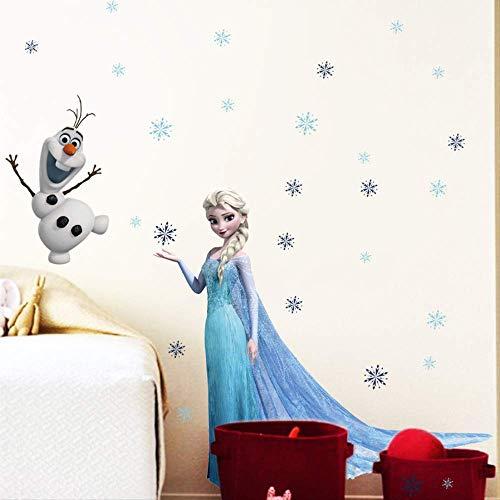 Frozen Elsa Dormitorio De Los Niños Impermeable Pegatina
