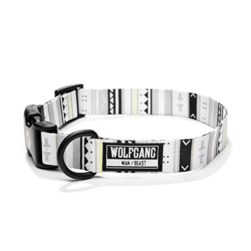 Wolfgang Hundehalsband Man & Beast, strapazierfähiges und bequemes Webband, aus der WhiteOwl Print Collection