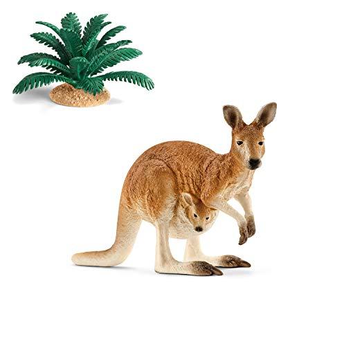 Wildlife Schleich 14756 Känguru + 42244 Farn