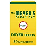 Product Image of the Mrs. Meyer's Clean Day Dryer Sheets, Honey Suckle, 80 Count