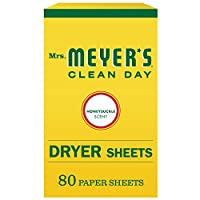 Mrs。Meyer 's Clean Day Dryer Sheets, Honey Suckle、80 Count