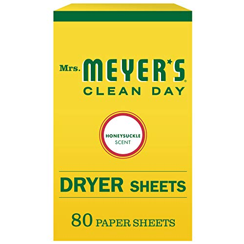 Mrs. Meyer's Clean Day Dryer Sheets, Honey Suckle, 80 Count