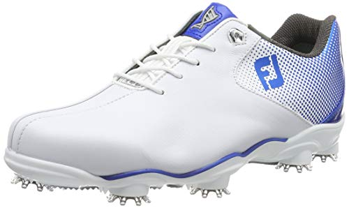 FootJoy Men's D.N.A. Helix-Previous Season Style Golf Shoes White 7 M Electric Blue, US
