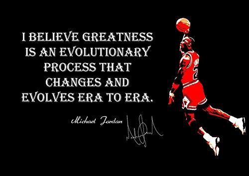 Michael Jordan Grandezza Inspiration Americana Pallacanestro Giocatore NBA Sport Citazione Autografato Poster Motivazione Immagine Succeed Foto Treno Rigido Camera da Letto Illustrazione Muro