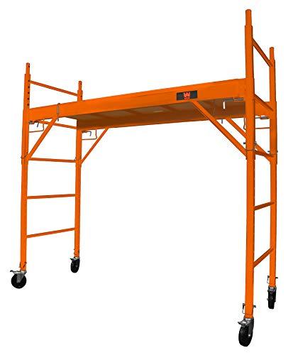 WEN 31110 Baker-Style 6.25 ft. Multi-Purpose 1000-Pound-Capacity Rolling Steel Scaffolding