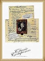 ポスター リンダ ジャド ベートベーン 額装品 ウッドベーシックフレーム(ナチュラル)