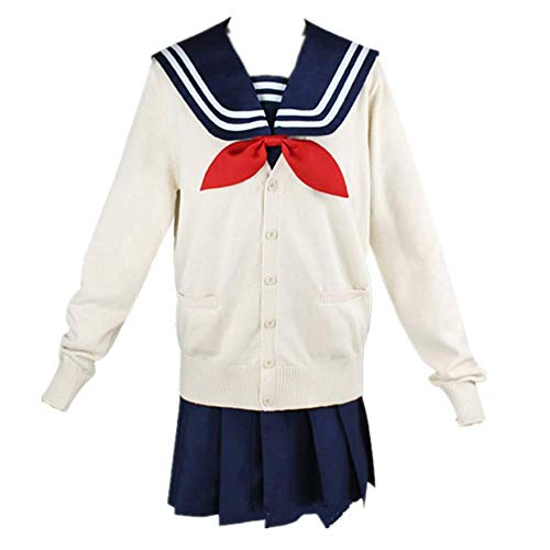 Disfraz de Cosplay Halloween Masquerade My Hero Academia Cross my Body/Himiko Toga JK Uniforme de la Escuela Secundaria Japonesa Trajes de Falda