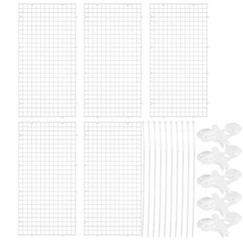 25Piezas Separador de Rejilla para Acuario, Separador de Tanque Divisor de Plástico para Acuario, Divisor de Pecera, Cría Mixta(blanco)