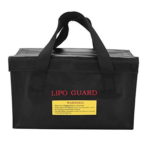 Smandy Schutztasche Explosionsgeschützte Lipo Batterie sichere Tasche Feuerbeständige Sicherheit Tasche mit Griffdesign für Charge und Storage (Schwarz)