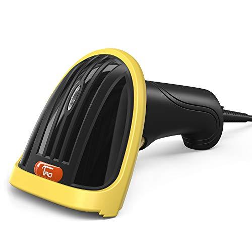 TaoTronics Barcode Scanner USB Laser 3 Mil Unterstützt, mehrsprachig, Stabiles Design, Plug and Play, 130 g für PC/ Notebook, Windows XP/ 10/8 usw